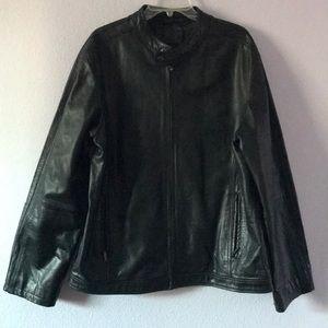 Vintage black motor leather jacket